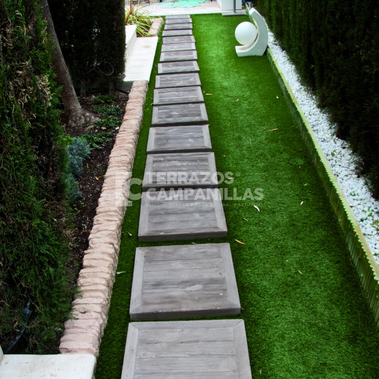 Arriates pasos y bordillos para jard n en terrazos for Bordillos para jardin