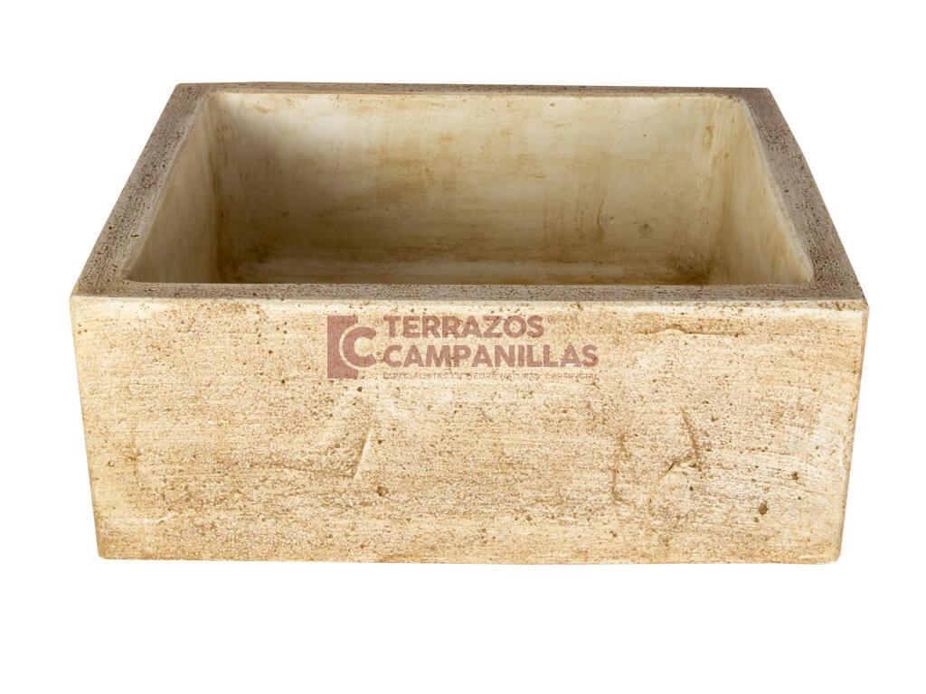 Pilas de lavar fregaderos y pilones de piedra artificial for Fregaderos de barro